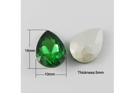 Lacrima Sticla 14x10x5mm Green