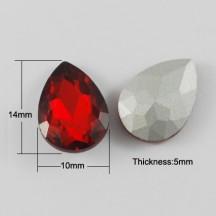 Lacrima Sticla 14x10x5mm Red