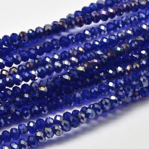 Rondele Sticla 3x2mm Blue