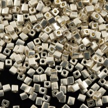 Miyuki Cube 4mm 1051 Galvanized Silver