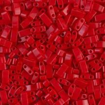 Miyuki Half Tila 0408 Matte Opaque Red