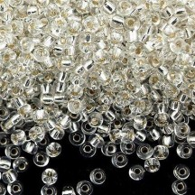 Margele de nisip Miyuki 8/0 0001 Crystal Silver Lined