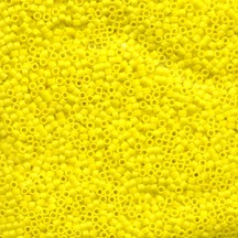 Delica 11/0 DB0751 Opaque Yellow Matted