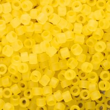 Delica 11/0 DB0743 Matted Transparent Yellow