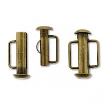 Inchizatoare 21.5mm Antique Bronze Slide Bar