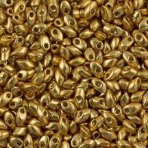Miyuki Long Magatama 4x7mm 4202 Duracoat Galvanized Gold