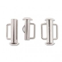 Inchizatoare 16.5mm Silver Plated Slide Bar