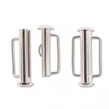 Inchizatoare 21.5mm Silver Plated Slide Bar