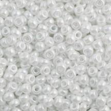 Margele de nisip Miyuki 8/0 0528 Ceylon White Pearl