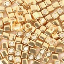 Miyuki Cube 3mm Galvanized Gold 1052