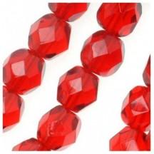 Margele Cehesti Fire-Polish 3mm 90090 Siam Ruby