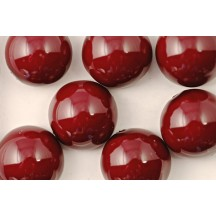 Margele Dome 10x6mm Cranberry 48265