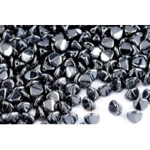 Margele Pinch 5x3mm Jet Hematite 14400