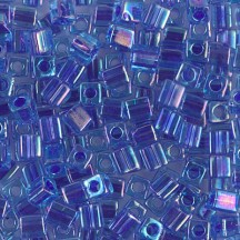 Miyuki Cube 3mm Lined Blue Violet AB 0353