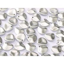 Margele Rose Petals 14x13mm Aluminium Silver 01700