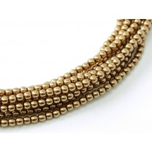 Perle Sticla Cehia 6mm Antique Gold 10146