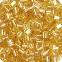 Miyuki Cube 4mm Gold Silver Lined 0003