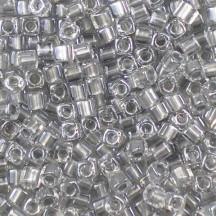 Miyuki Cube 4mm Sparkling Pewter Lined Crystal 0242