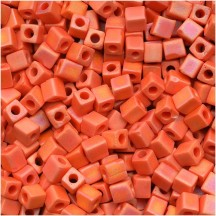 Miyuki Cube 3mm Opaque Orange Matted AB 0406FR