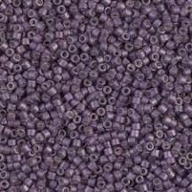 Delica 11/0 DB1174 Galvanized Matted Eggplant