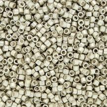 Delica 11/0 DB1151 Galvanized Semi Matte Silver