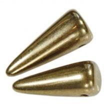 Margele Spikes 5x13mm Bronze