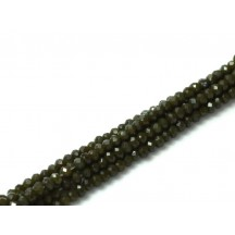 Rondele 1x2 mm Dark Khaki