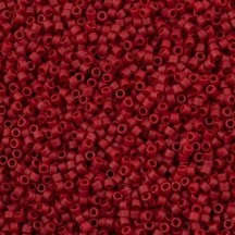 Delica 11/0 DB0796 Opaque Maroon Matted Dyed