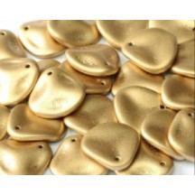 Margele Rose Petals 14x13mm Aztec Gold 01710