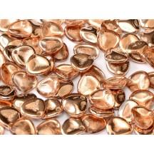 Margele Rose Petals 14x13mm Crystal Capri Gold 27101