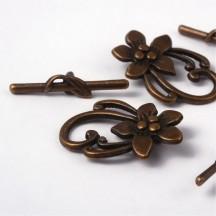 Inchizatoare Antique Bronze Flower 28mm