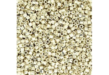Delica Hexcut 11/0 DBC0035 Galvanized Silver