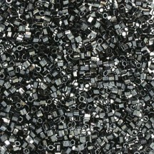 Delica Hexcut 11/0 DBC0001 Hematite