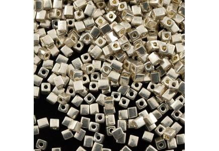 Miyuki Cube 3mm Galvanized Silver 1051