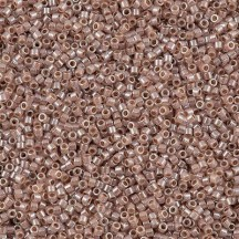 Delica 11/0 DB0256 Lined Crystal Taupe