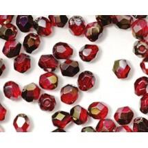 Margele Cehesti Fire-Polish Bronze Iris Siam Ruby 3mm ZR90080