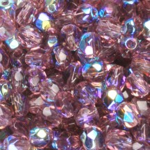 Margele Cehesti Fire-Polish Amethyst AB 4mm X20060