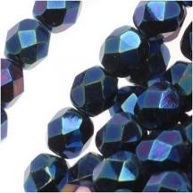 Margele Cehesti Fire-Polish Aquamarine-Blue Iris 4mm BR60010