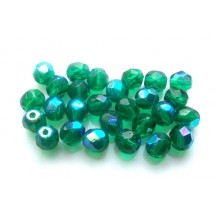 Margele Cehesti Fire-Polish Emerald AB 6mm X50140