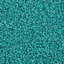 Delica 11/0 DB0878 Opaque Turquoise AB Matted