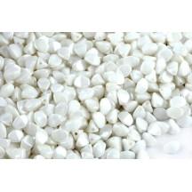 Margele Pinch 5x3mm Chalk White 03000