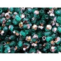 Margele Cehesti Fire-Polish Copper Emerald 3mm C50730