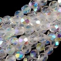 Margele Cehesti Fire-Polish Crystal AB 8mm X00030