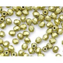 Margele Cehesti Fire-Polish Matte Metallic Aztec Gold 3mm K0172JT