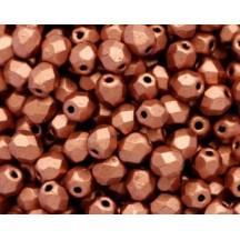 Margele Cehesti Fire-Polish Matte Metallic Copper 8mm K0177JT