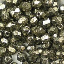 Margele Cehesti Fire-Polish Coated Metallic Antique Platium 8mm 18549CR