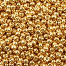 Margele de nisip Miyuki 11/0 Galvanized Gold 1052