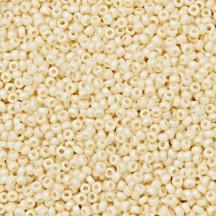 Margele de nisip Miyuki 15/0 Matted Opaque DK. Cream AB 0492FR