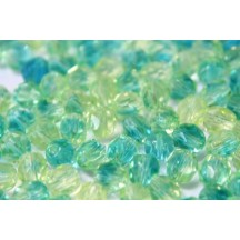 Margele Cehesti Fire-Polish 4mm 67801 Green/Blue