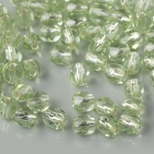 Margele Cehesti Fire-Polish 4mm SL50500 Peridot Silver Lined